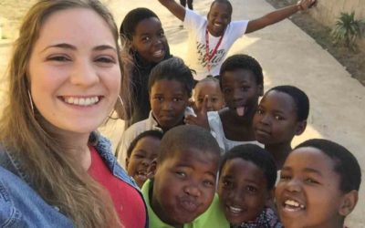 Students in the mission field in Africa